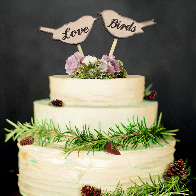 Custom Personalized Love Birds Cake Toppers Birthday Cake Toppers
