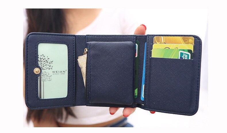 Женский кошелек, женские короткие кошельки, украшенные короной, Мини кошельки для денег, маленькие складные кошельки из искусственной кожи, женский кошелек, держатель для карт