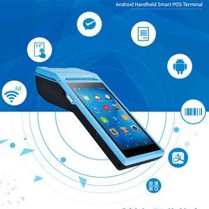 Image 2 - Портативный POS компьютер GOOJPRT, Android 6,0, PDA, терминал с сенсорным экраном 5,5 дюйма, 3G, Wi Fi, Bluetooth, NFC, опции, PDA, термальные принтеры