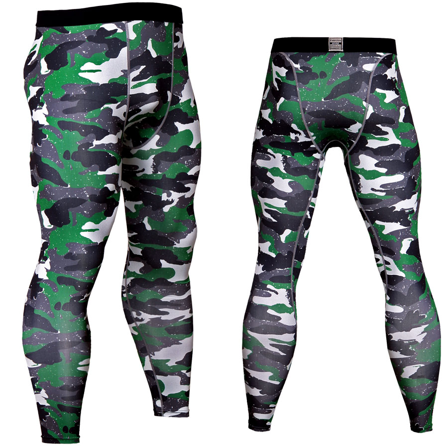 2018 New Fashion Pants Men Fitness Leggings Compression Pants Mixed Color Camoflage Crossfit Sweatpants Bodybuilding Joggers MMA