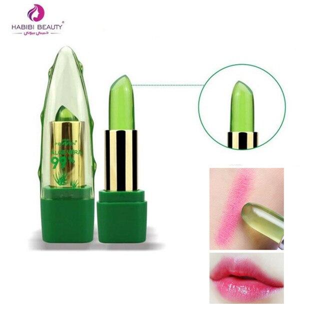 Nuevo Batom 99% ALOE VERA Natural cambio de temperatura Color jalea lápiz labial de larga duración hidratante nutritivo labio bálsamo maquillaje