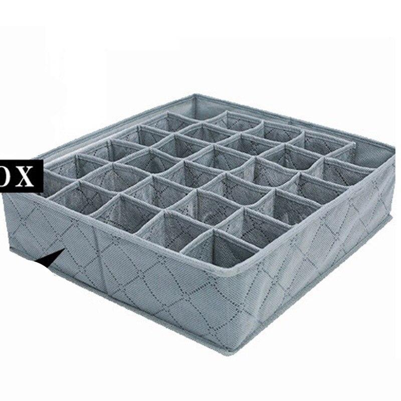 30 Grids Underwear Storage Box Drawer Closet Organizers Boxes For Underwear Bra Socks Tie Finishing Box Healthy Bamboo Charcoal