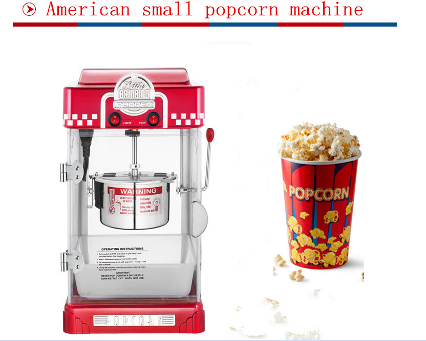 the new american small popcorn machine commercial popcorn maker household electric automatic stainless steel pot explosion - Popcorn Makers