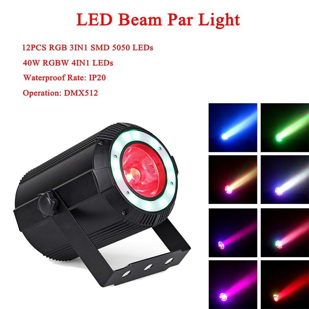 ニューミュージックライト 40 ワット LED RGBW 4IN1 ビーム効果パーライト DMX512 プロの主導ステージライトパーティー Ktv ディスコ Dj ライト - Yuer Sales Lights Store