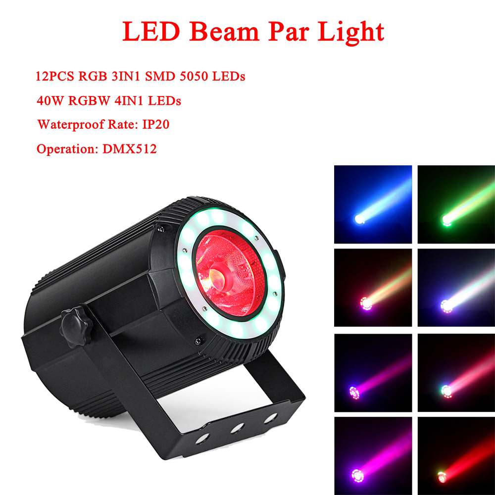 NEW Music Light 40W LED RGBW 4IN1 Beam Effect Par Light DMX512 Professional LED Stage Light For Party KTV Disco DJ Night LightNEW Music Light 40W LED RGBW 4IN1 Beam Effect Par Light DMX512 Professional LED Stage Light For Party KTV Disco DJ Night Light