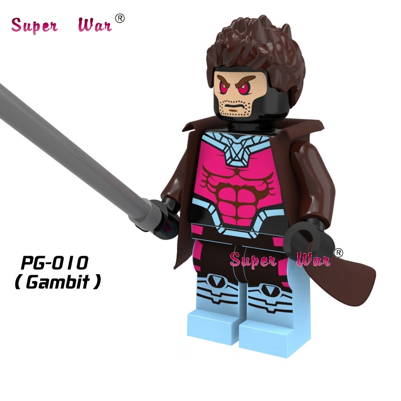 Single Sale star wars superhero marvel avengers Gambit building blocks action sets model bricks toys for