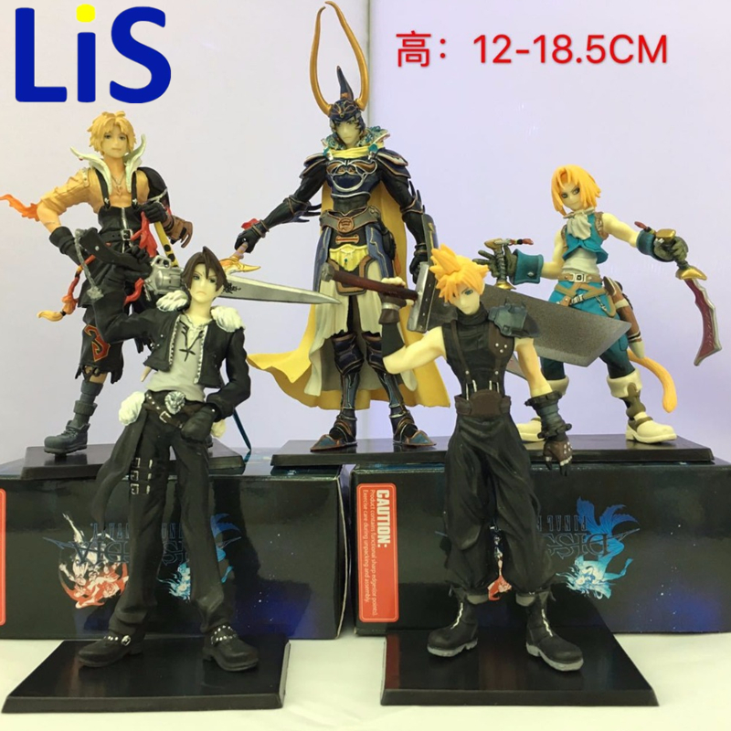 Lis 5 Pcs/lot Anime Final Fantasies Action figure Final of Fantasy Action & Toys Figure PVC collectible Model Toy 12-18.5cm