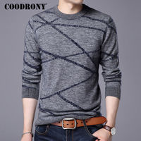 COODRONY Merino Wool Sweater Men 2017 New Winter Thick Warm Mens Knitted Sweaters Pull Homme Christmas