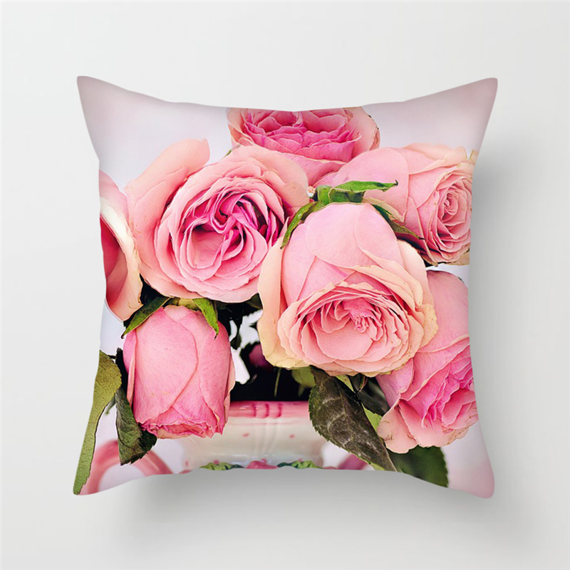 Fuwatacchi Floral Cushion Cover Apricot Flower Pillow Cover for Sofa Bedroom Car Decoration Flower Roses Throw Pillowcases 2019 in Cushion Cover from Home Garden