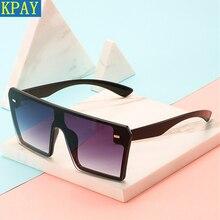 2019 Luxury Brand Fashion Flat Top Red Black Sun Glasses  Clear Lens Men Shade Mirror UV400 Oversized Square Sunglasses Women