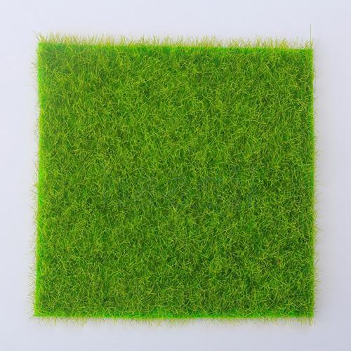 1pc Artificial Grass Fake Lawn Grass Miniature Dollhouse Decor Home Garden Ornament 6''*6''