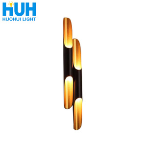 Image 1 - Vintage Wall Light Creative Bamboo Shaped Personality Bar Wall Lamp Cafe Dinning Room Bedroom Bedside Beveled metal Wall Lamp