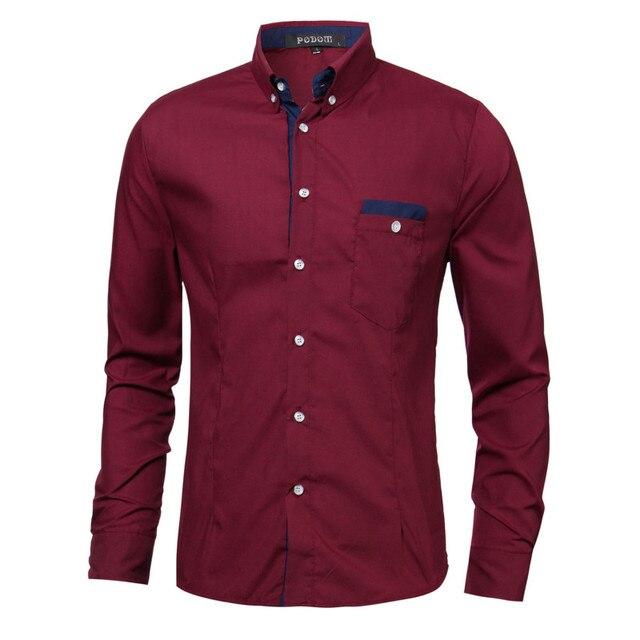 Новая Осень Мужская Мода Рубашка Повседневная Бизнес Мужская Одежда Slim Fit Рубашки С Длинным Рукавом Хлопок Формальные Социальные Муёской Рубашки