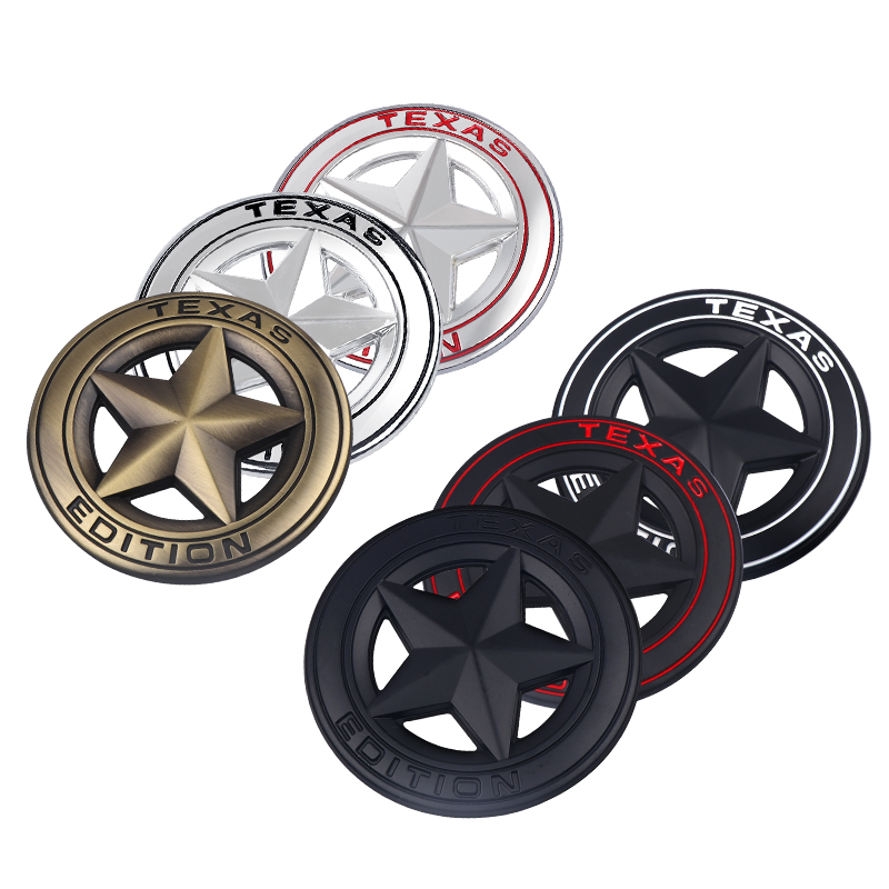 Car Styling TEXAS EDITION Logo 3D Metal Sticker Emblem Badge Sticker For Universal Cars Motorcycle Decorative Accessories