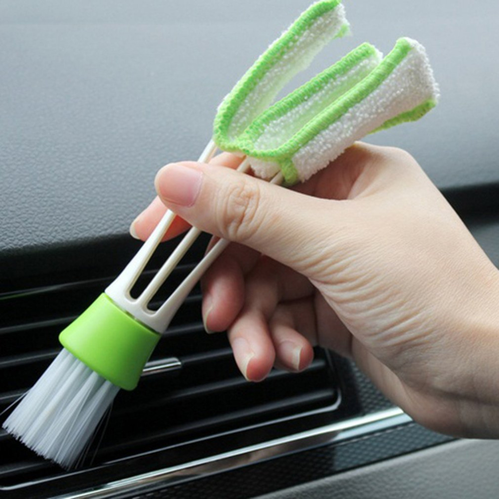 Microfiber Window Cleaning Brush Air Conditioner Duster Cleaner Washable Window Blind Blade Shutter Brush Cloth House Cleaner in Cleaning Brushes from Home Garden