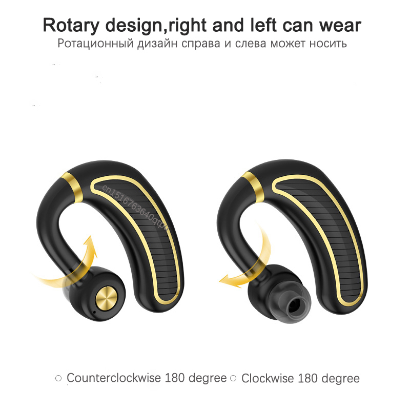 Business Bluetooth Earphone Wireless Headphone With Mic 24 Hours Work Time Bluetooth Headset For Phone Iphone Xiaomi Samsung in Bluetooth Earphones Headphones from Consumer Electronics
