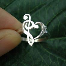 Музыкальная заметка кольцо в форме сердца музыкальное Подарочное