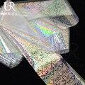 Nova 100 cm x 4 cm Glitter Laser Prego Transferência Arte Folha De Etiqueta Adesiva Colorida Cola Manicure Beleza Do Prego Decorações LT08