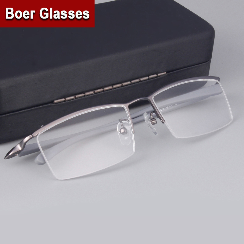 Rimless Glasses Trend : Fashion Brand Mens Half rimless Eyeglasses Titanium ...