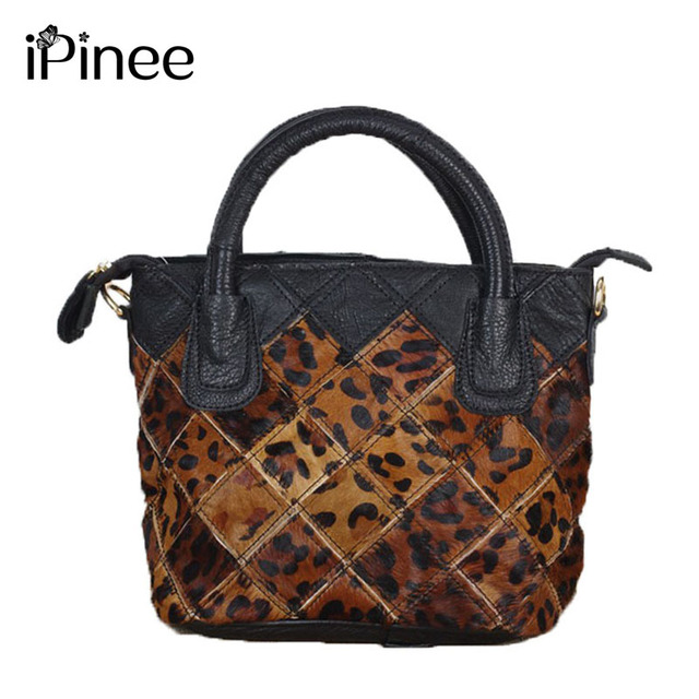 0f2879a01a iPinee Fashion Design Leopard Bag Genuine Leather Ladies Handbags High  Quality Women Shoulder Bags Wholesale
