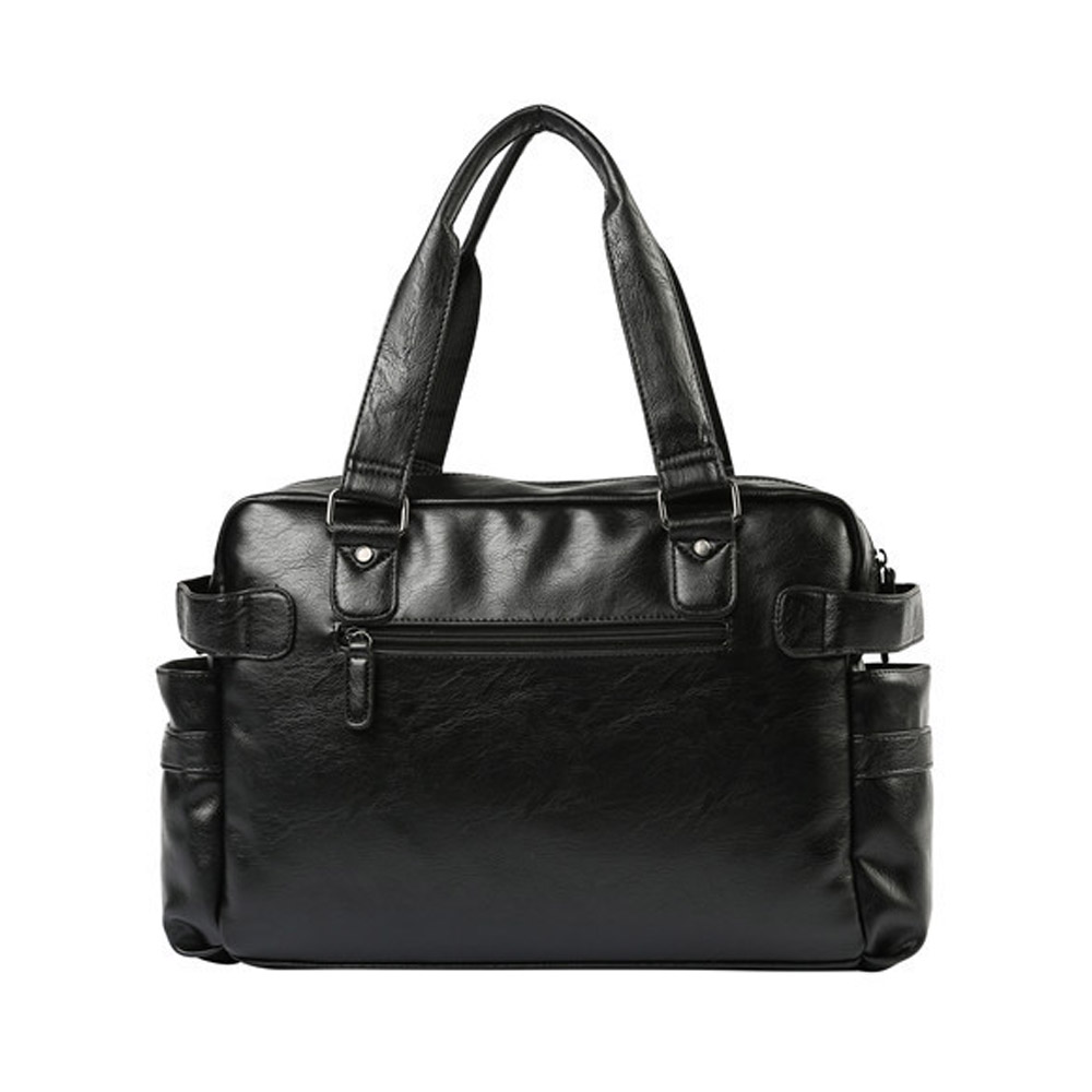 High Quality Leather Men's Travel Bags Large Capacity Men Messenger Bags Travel Duffle Handbags Men's Shoulder Bags-in Travel Bags from Luggage & Bags    3