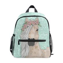 ALAZA Backpack schoolbag For girls Kids School Bags small bag large capacity Horse pattern for teenage girl student backpack