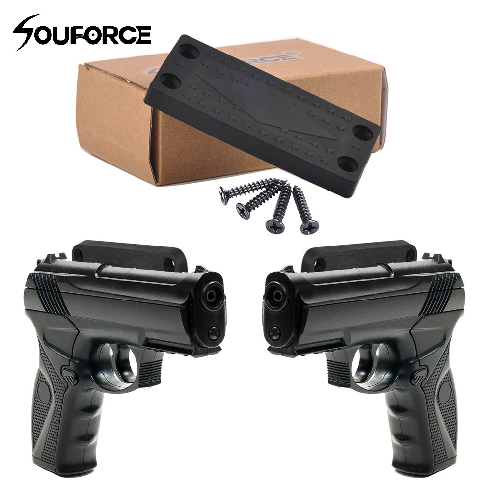 Tactic Magnetic Gun Holster Holder Pistol Mount Under Table and Car Bedside for Hunting Accessory