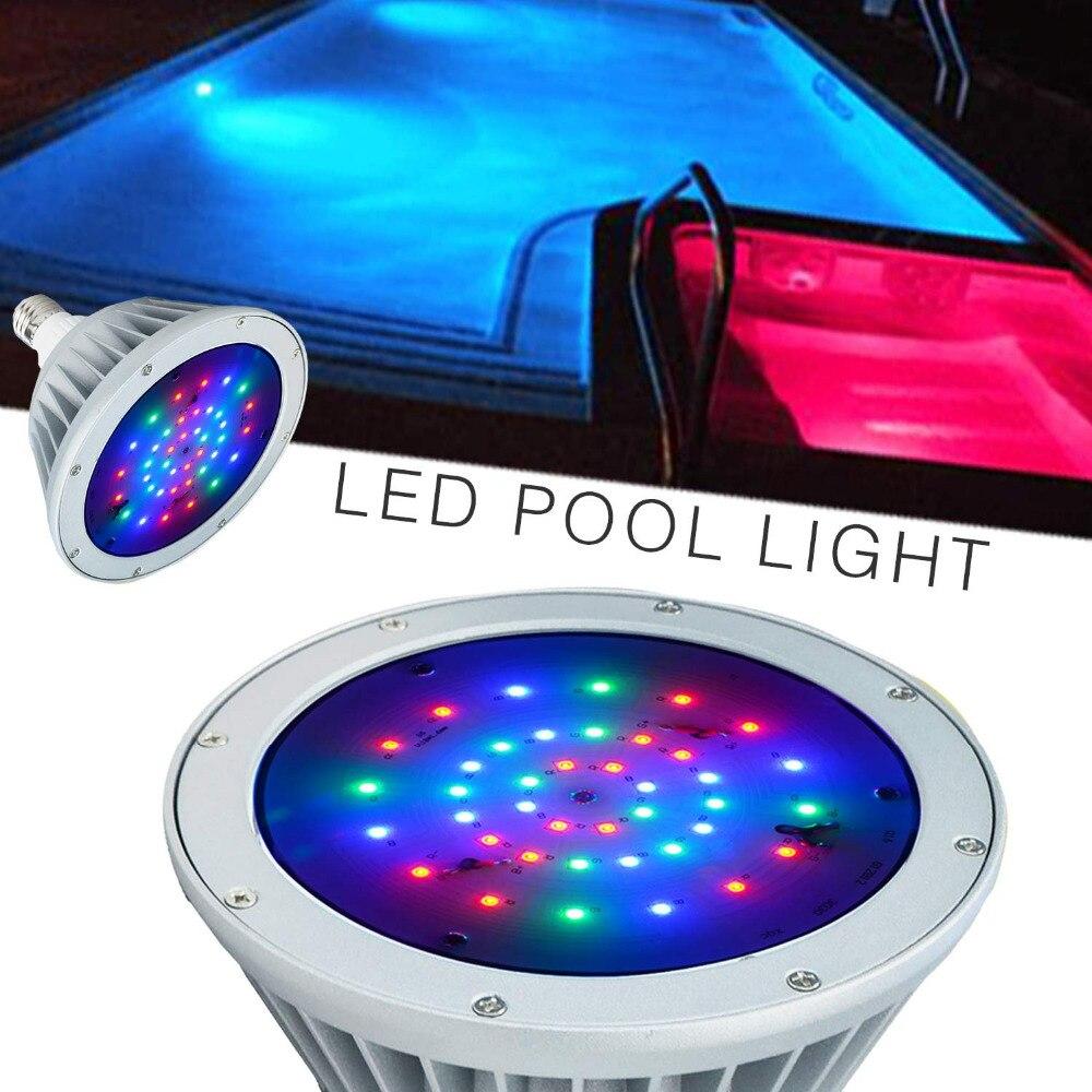 Pack de 2 LED lumière de piscine, 12 V 40 W, changement de couleur blanc rvb, IP65 sous la lumière de l'eau, remplacement pour Pentair et Hayward luminaire - 3