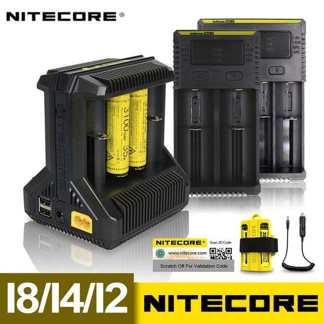 Интеллектуальное зарядное устройство Nitecore i8, i4, i2, 8 слотов, выход 4A, умное зарядное устройство для Li Ion 18650, 16340, 10440, AA, AAA, 14500, 26650