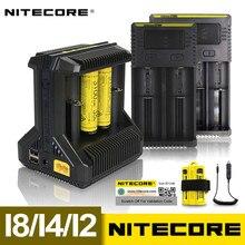 Nitecore i8 nowy i4 i2 inteligentna ładowarka 8 sloty całkowity 4A wyjście inteligentna ładowarka do akumulatorów Li ion 18650 16340 10440 AA AAA 14500 26650