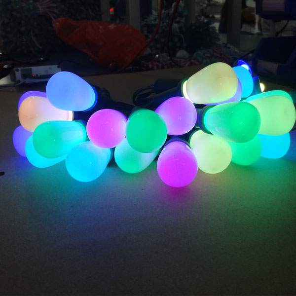 50pcs/set RGB G27 12V WS2811 led pixel string light;full color ...