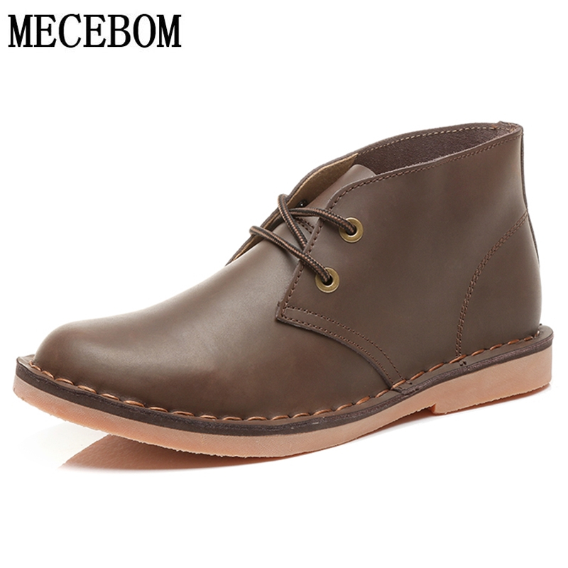Men's Desert Boots High Quality Genuine Leather Shoes For Male Ankle Boots Handsome Business Men Boots Botas Hombre 807m