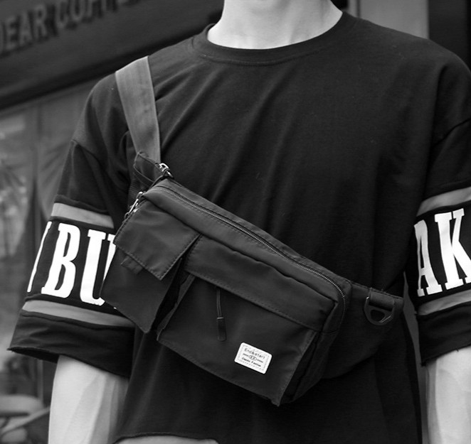 2018 Nylon Feste Designer Business Männer Brust Tasche Schwarz Taille Pack Schulter Messenger Umhängetaschen Neue Mode Telefon Hüfte Geldbörse Vertrieb Von QualitäTssicherung