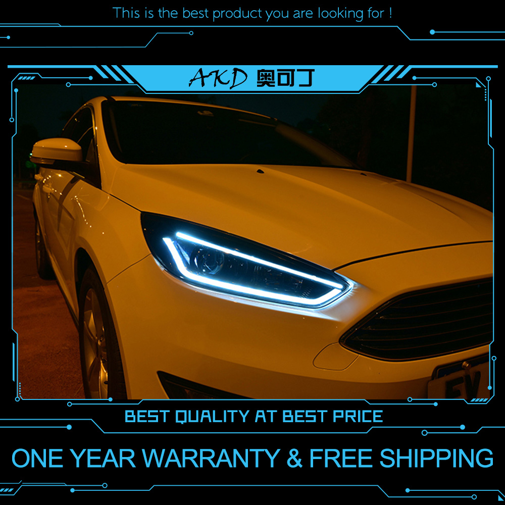 AKD Tuning Cars Headlight For Ford Focus 2015 2018