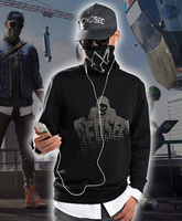 Watch Dogs 2 Marcus Holloway Cosplay Costumes Hot Game Long Sleeve Fake Two Piece Hoodie Casual