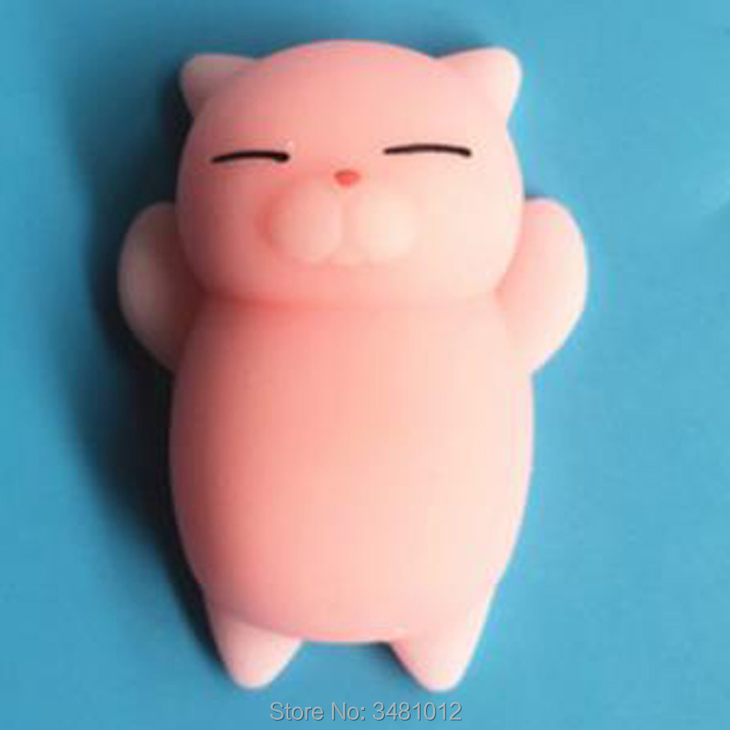 Купить с кэшбэком 30pcs/pack Kawaii Squishes Mochi Cat Squishy Antistress Soft Rubber Food Animals Squeeze Shark Slow Rising Squishies Funny Toys