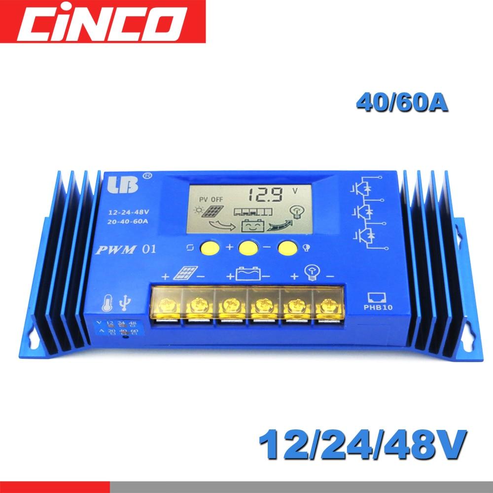 LB 60 40 A LCD Display 12V/24V/48V PWM LB Brand Solar Panel Charge Controller Regulator Auto Lithium iron battery Li Li ion