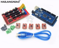 Mega 2560 R3 1pcs RAMPS 1 4 Controller 5pcs A4988 Stepper Driver Module For 3D Printer