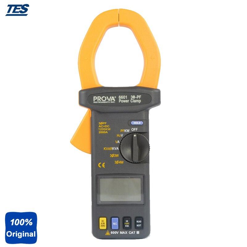 PROVA-6601 AC+DC 2000A 600V Power Factor PF Power Clamp Meter