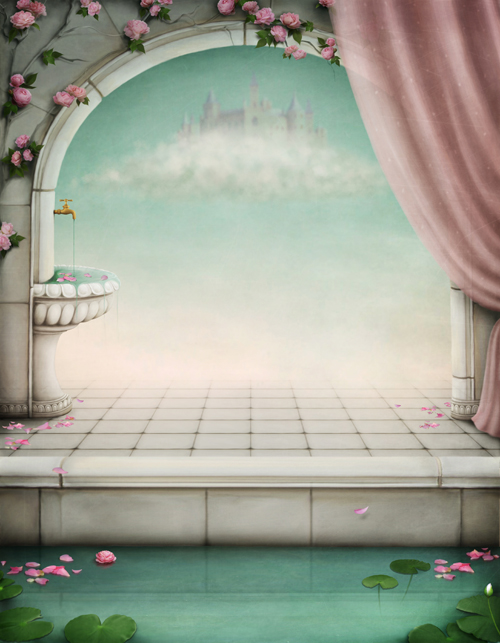 fairy tale arch printed newborn baby photo backdrops Art fabric backdrop for studio children photography backgrounds D-9822 5x7ft art fabric photography backdrop newborn portrait printed photography backgrounds pink damask pattern wall backdrops d 7701