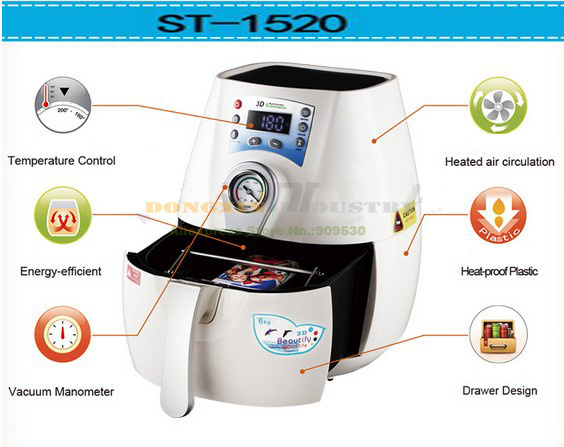 Free Shipping ST 1520 PC 3D Mini Multifunction Sublimation font b Machine b font With Phone