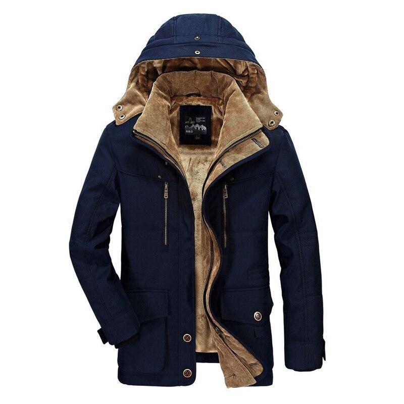 Marque AFS JEEP hommes vêtements 2018 veste d'hiver hommes Style militaire de haute qualité épaissir polaire Parka manteau coton veste rembourrée