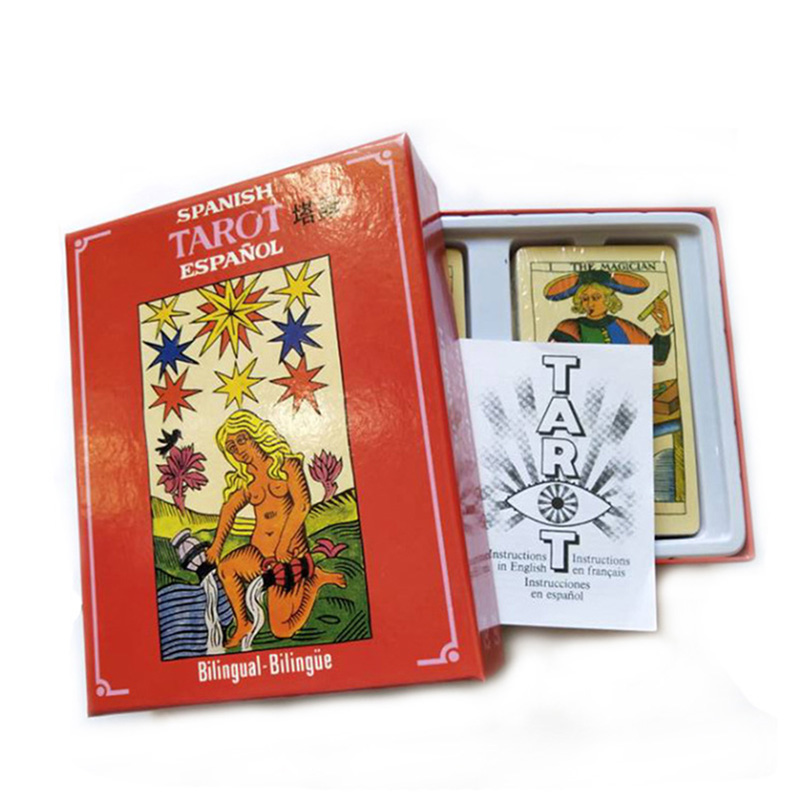 High Quality Tarot Board Game Funny Cards Game Classic Spanish Tarot Game 22pcs/78pcs/100pcs Cards