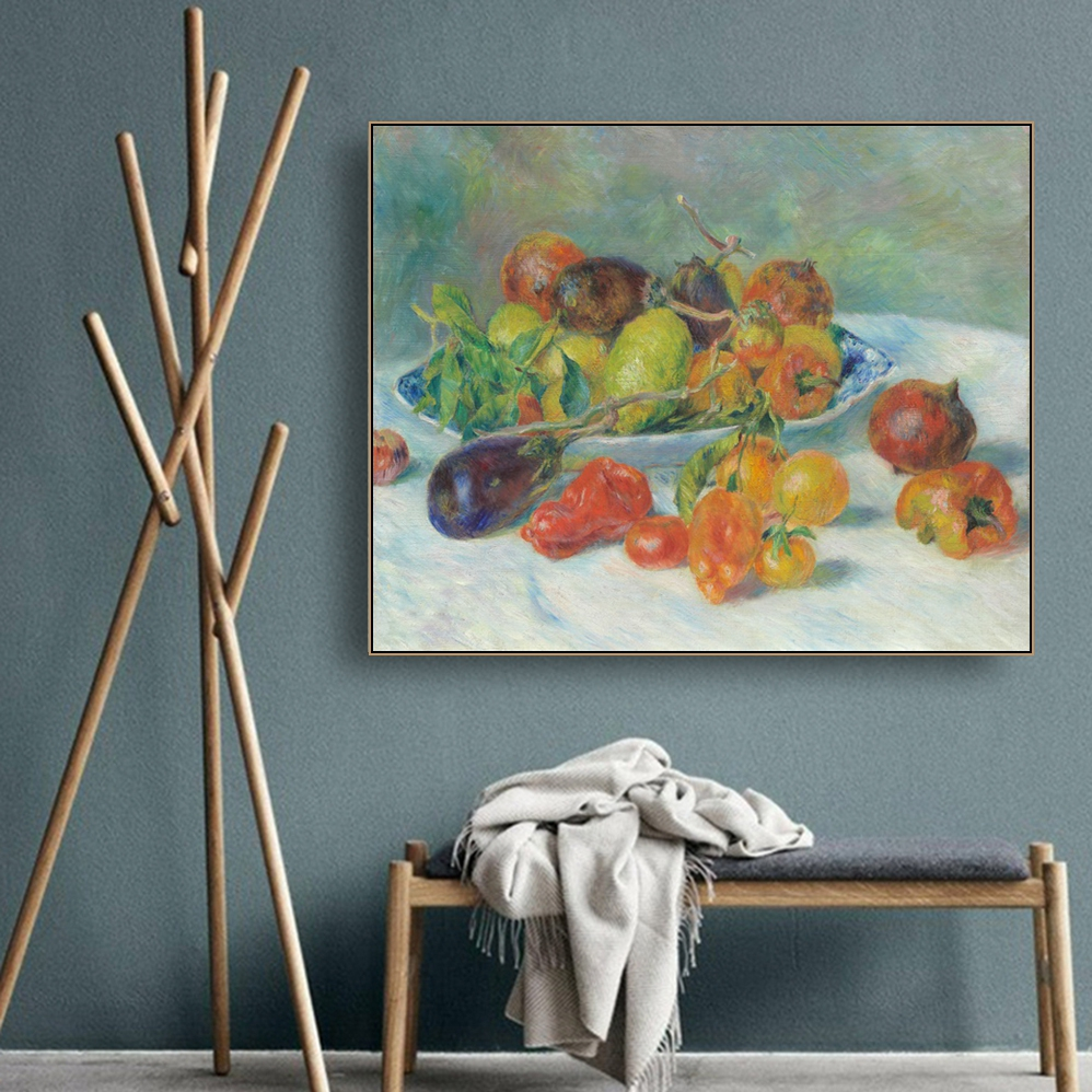 Still Life by Auguste Renoir Wall Art Canvas Painting Calligraphy Poster and Print Decorative Picture for Living Room Home Decor in Painting Calligraphy from Home Garden
