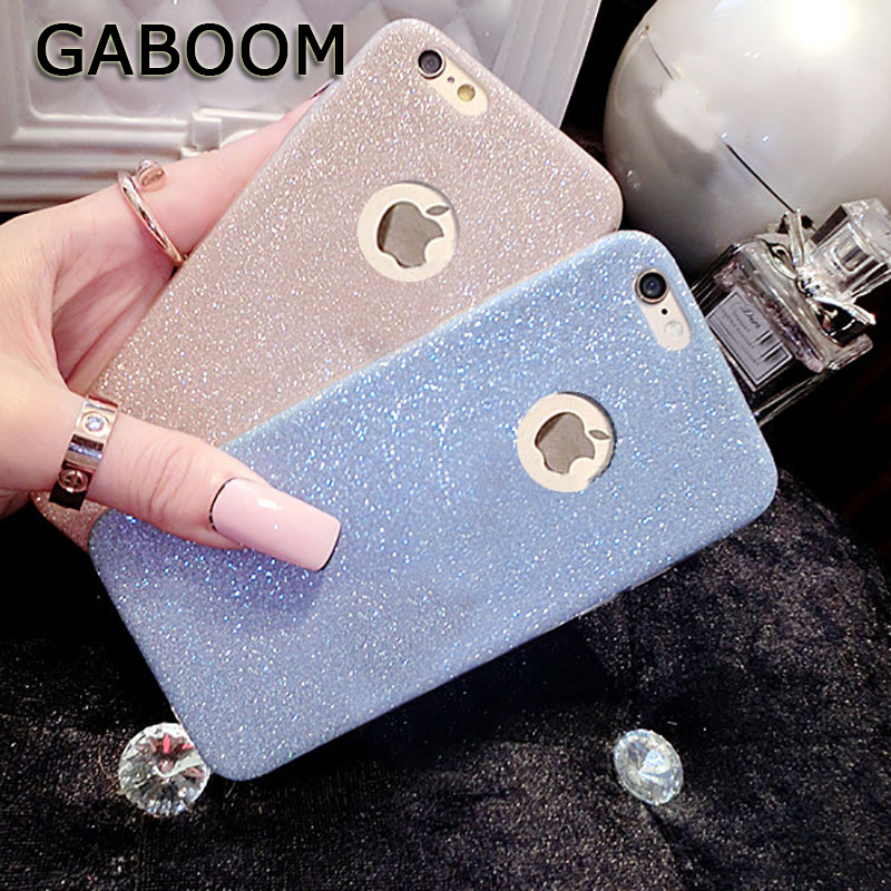 GABOOM Glitters Bling Phone Cases for Iphone 6 6s Plus 5 5s SE Soft TPU Shining Phone Cover for Iphone 7 8 Plus X Cases Fundas