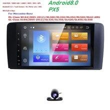 Android 8,0 Автомобильный мультимедийный плеер автомобиля Радио gps для Mercedes Benz/GL ML класса W164 ML350 ML450 ML500 GL320 Canbus Bluetooth, Wi-Fi