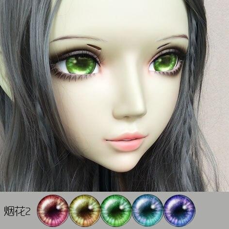 Sweet Girl Resin Half Head Bjd Kigurumi Mask With Eyes Cosplay Anime Role Lolita Mask Crossdress Doll Fine Craftsmanship Boys Costume Accessories gl067 Costumes & Accessories