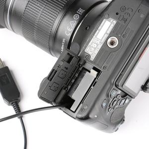 Image 5 - 5 V USB מתאם מתח כבל כונן ACK E10 LP E10 סוללה דמה DR E10 dc מצמד עבור canon eos 1100d 1200d 1300d x70 x50 T3