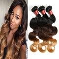 Mink Brazilian Hair 8A Ombre Brazilian Virgin Hair Body Wave Cheap OmbreBrazilian Body Wave 3pcs/lot Ombre Hair Extensions