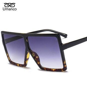 9e7b761e3f Gafas de sol de gran tamaño con montura cuadrada de moda de Umanco para  hombre y mujer gafas de visión nocturna de plástico